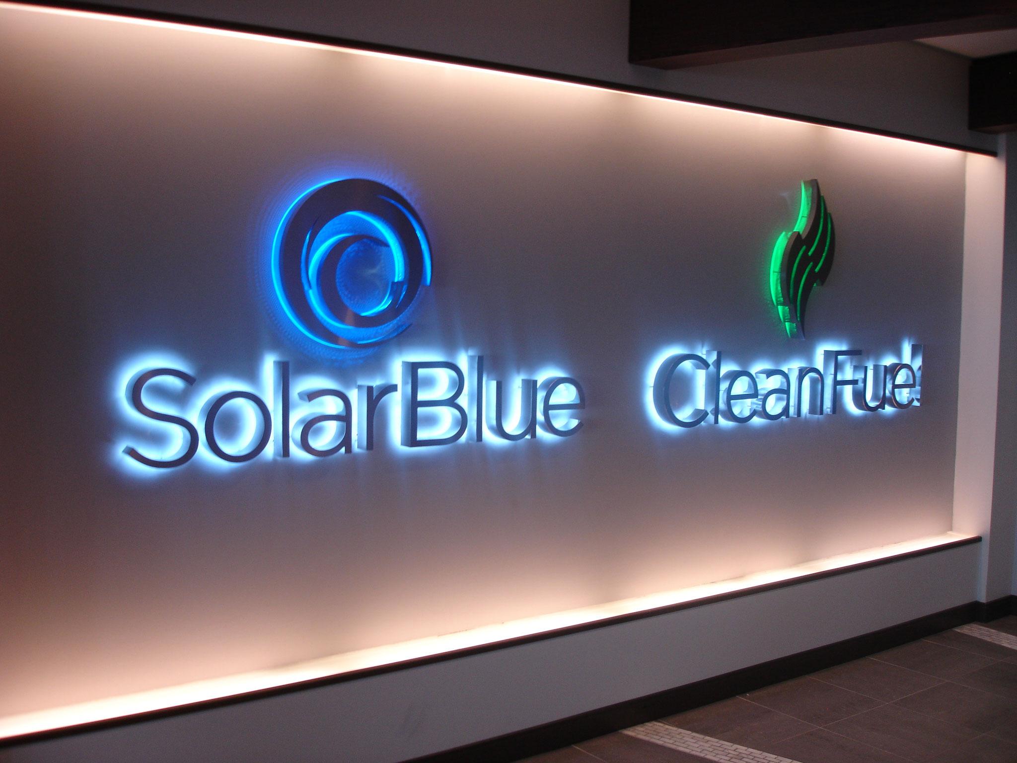 solar-blue-signs